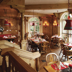""" Swiss Chalet restaurant in Vail """